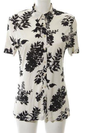 In Wear Camicia a maniche corte nero-bianco sporco motivo floreale stile casual