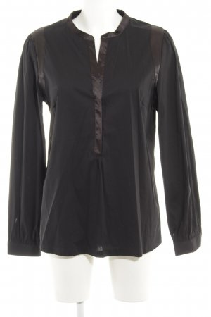 In Wear Langarm-Bluse schwarz Business-Look