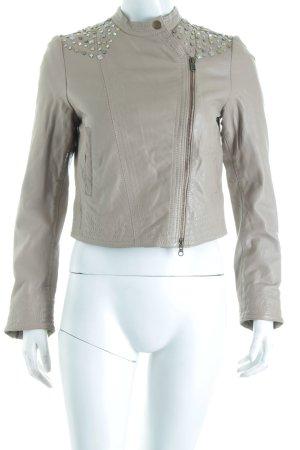In Wear Lederjacke beige Street-Fashion-Look