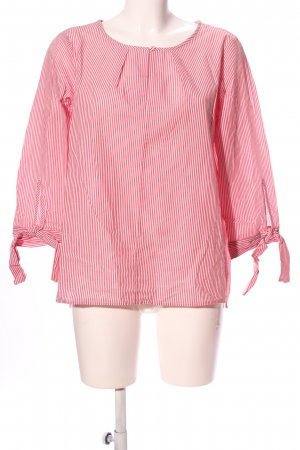 In Wear Schluppen-Bluse pink-weiß Allover-Druck Business-Look