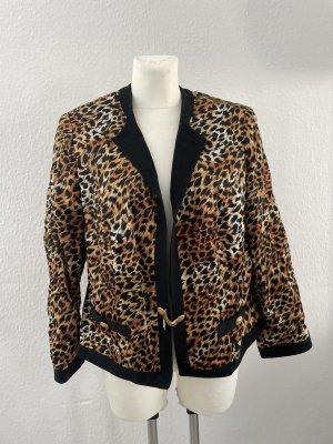 Ina Lima Blazer Jacke gr 42 Leopard Muster schwarz braun