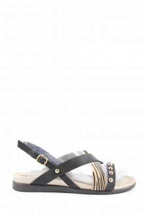 inblu Riemchen-Sandalen schwarz-creme Animalmuster Casual-Look