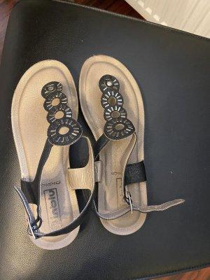 inblu Sandalo infradito nero-argento