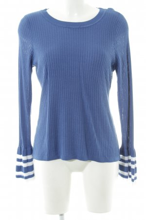INC International Concepts Strickpullover blau-weiß Streifenmuster Casual-Look