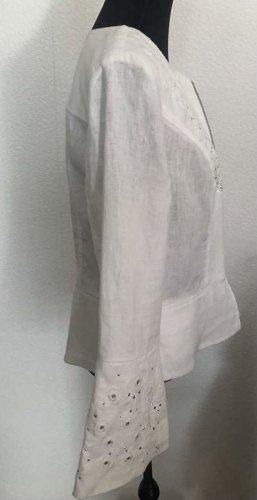 INC Denim Blazer white linen