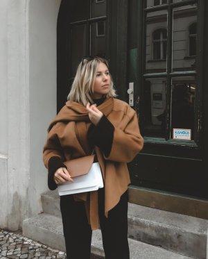 INCH LAB Umhängetasche braun-weiß Business-Look