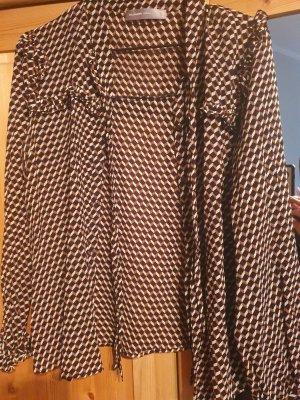 Donna by hallhuber Blusa collo a cravatta multicolore