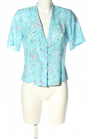 Inco Fashion Kurzarm-Bluse Blumenmuster Casual-Look