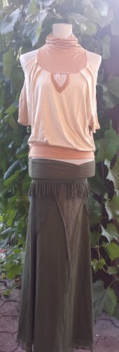 Indian Boho Ethno Hippie Bohemian Nature Tribal Top - SIZE: S