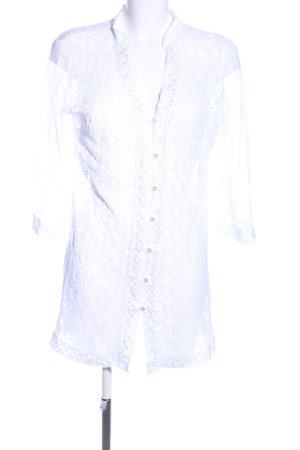 Indian Emporium Transparenz-Bluse weiß Casual-Look