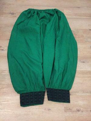 Pantalone Capri nero-verde Viscosa