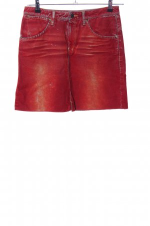 Indian Rose Jeansrock rot Casual-Look