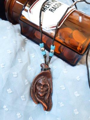 Indianerkette Holz Perlen Ethno Boho besonders Alternative