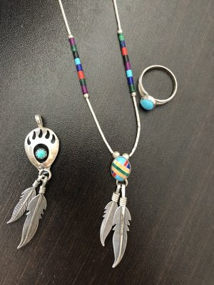 Indianerschmuck/ Anhänger und Ring