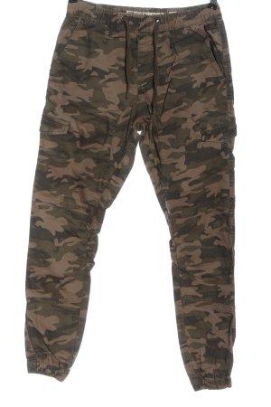 INDICODE Kaki broek camouflageprint casual uitstraling