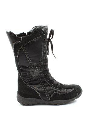 INDIGO Wide Calf Boots black casual look