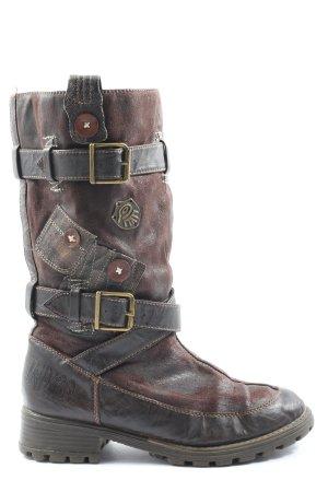 INDIGO Winter Boots brown casual look