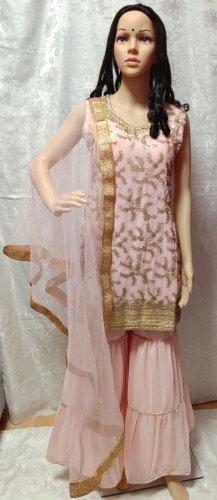 Bollywood Avondjurk stoffig roze
