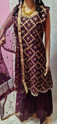 Bollywood Avondjurk paars