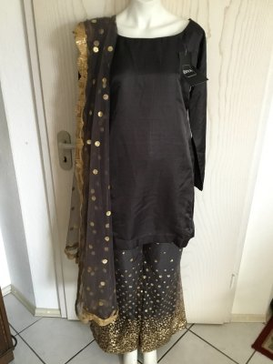 DIYA Ladies' Suit black-gold-colored mixture fibre
