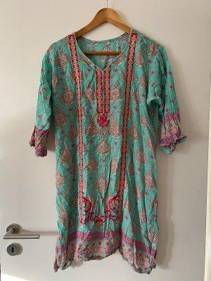 keine Marke Tunic Dress multicolored cotton