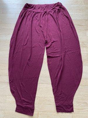 Pantalone alla turca bordeaux-viola