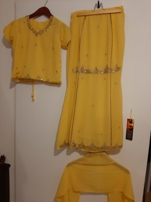 Caftan gold-colored-yellow