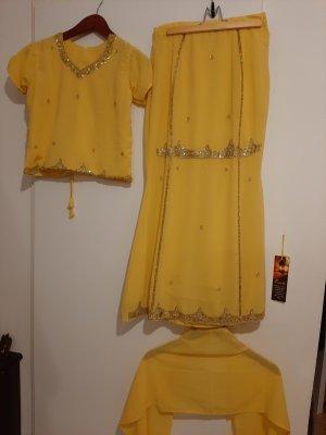 Kaftan goud-geel