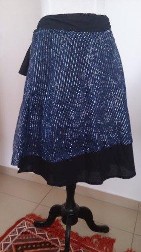 Falda cruzada negro-azul