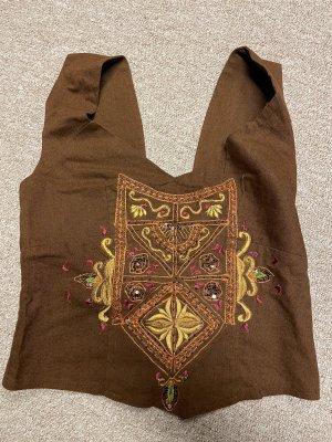 Blusa sin espalda marrón