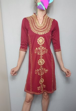 Caftan gold-colored-dark red