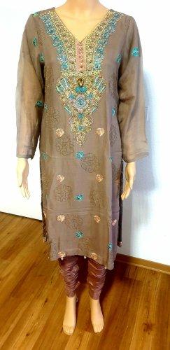 INDIA BOUTIQUE Vestido de noche marrón grisáceo-ocre