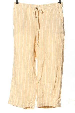 Indiska Pantalón de lino crema-blanco estampado a rayas look casual