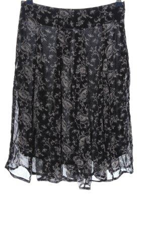 Indiska Minifalda negro-blanco estampado con diseño abstracto elegante