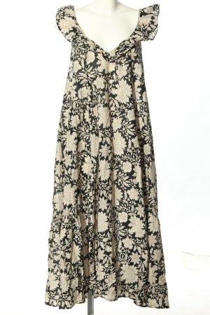 Indiska Vestido de Verano negro-blanco puro look casual