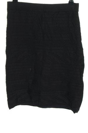 Indiska Strickrock schwarz grafisches Muster Casual-Look