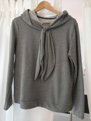 individueller, edler Hoodie, Kapuzensweater in grau von Le Streghe, 38/40 mit Schluppe, selten