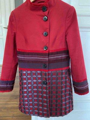 Promod Manteau mi-saison rouge foncé-violet coton