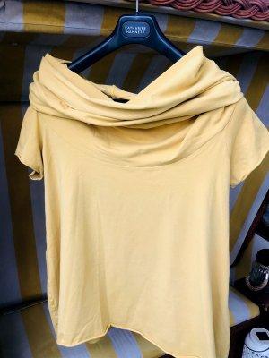 Lila Top épaules dénudées jaune coton