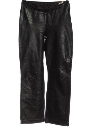 Infam Pantalone in pelle nero stile stravagante