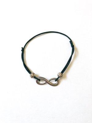 Infinity Armband dunkelgrün