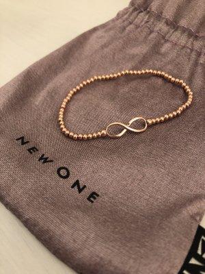 Infinity Armband rosé von NEW ONE - neu und ungetragen!