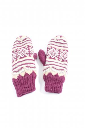 Infinity woman Mittens pink-white graphic pattern casual look