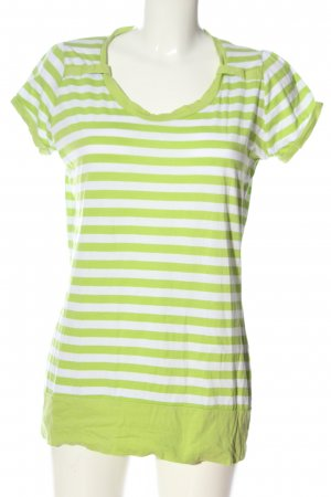 Infinity woman Short Sleeved Blouse green-white allover print casual look