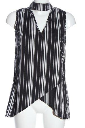 Influence Sleeveless Blouse black-white allover print business style