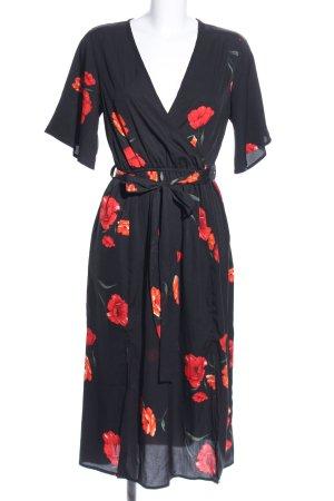 Influence Blusenkleid schwarz-rot Blumenmuster Business-Look