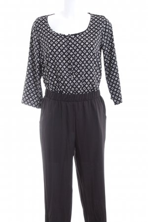 Influence Jumpsuit schwarz-weiß Allover-Druck Elegant