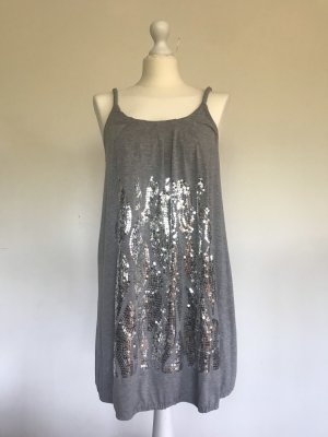Influence Sukienka z rękawem balonowym szary-srebrny