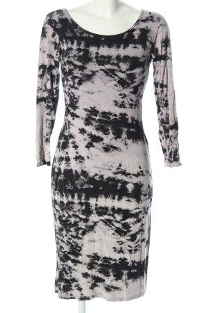 Influence Robe en jersey gris clair-noir motif abstrait style décontracté