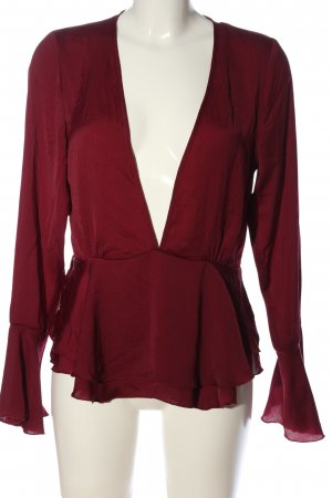 Influence Long Sleeve Blouse red casual look